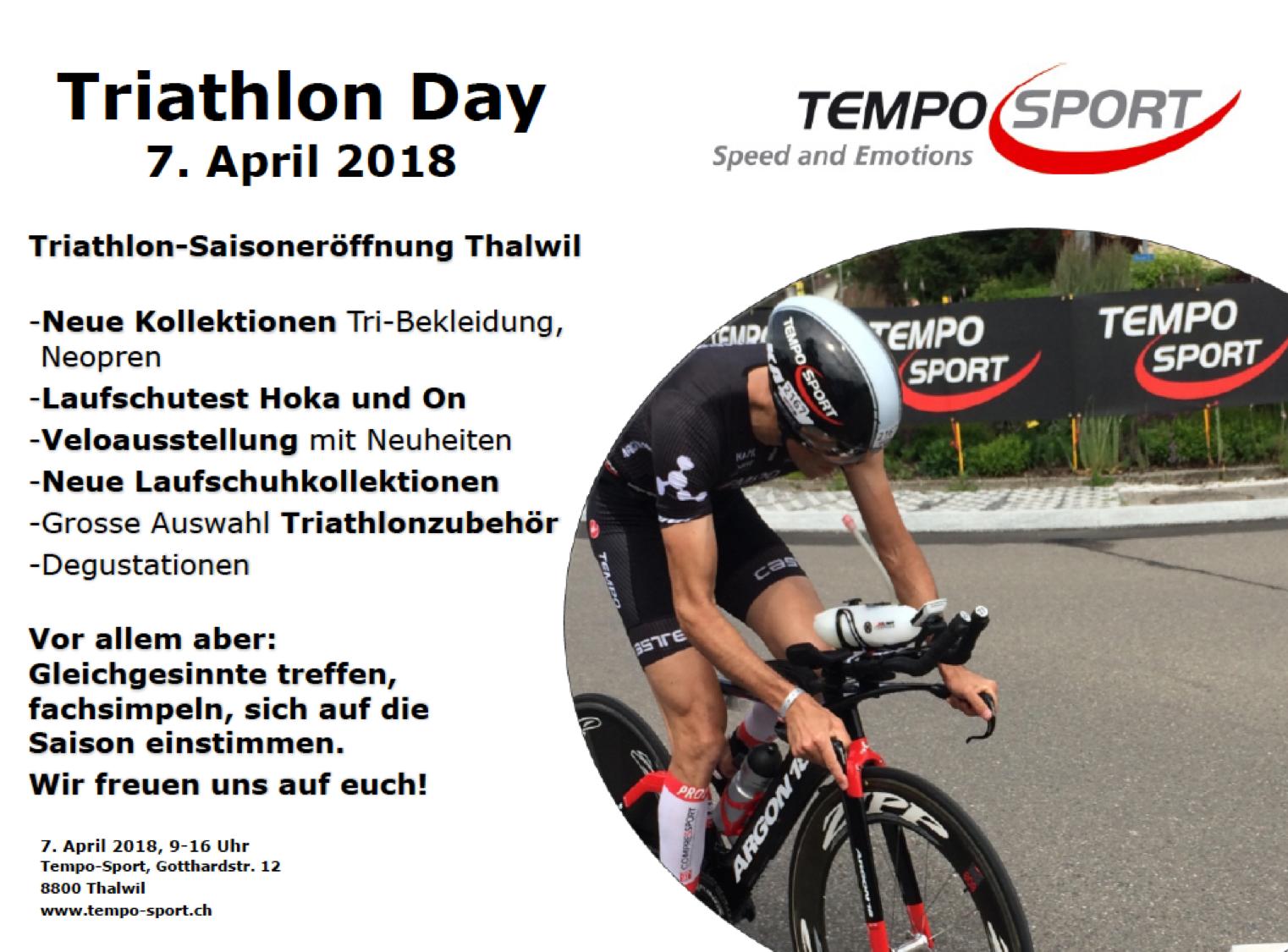 Triathlon Day Thalwil 7. April 2018