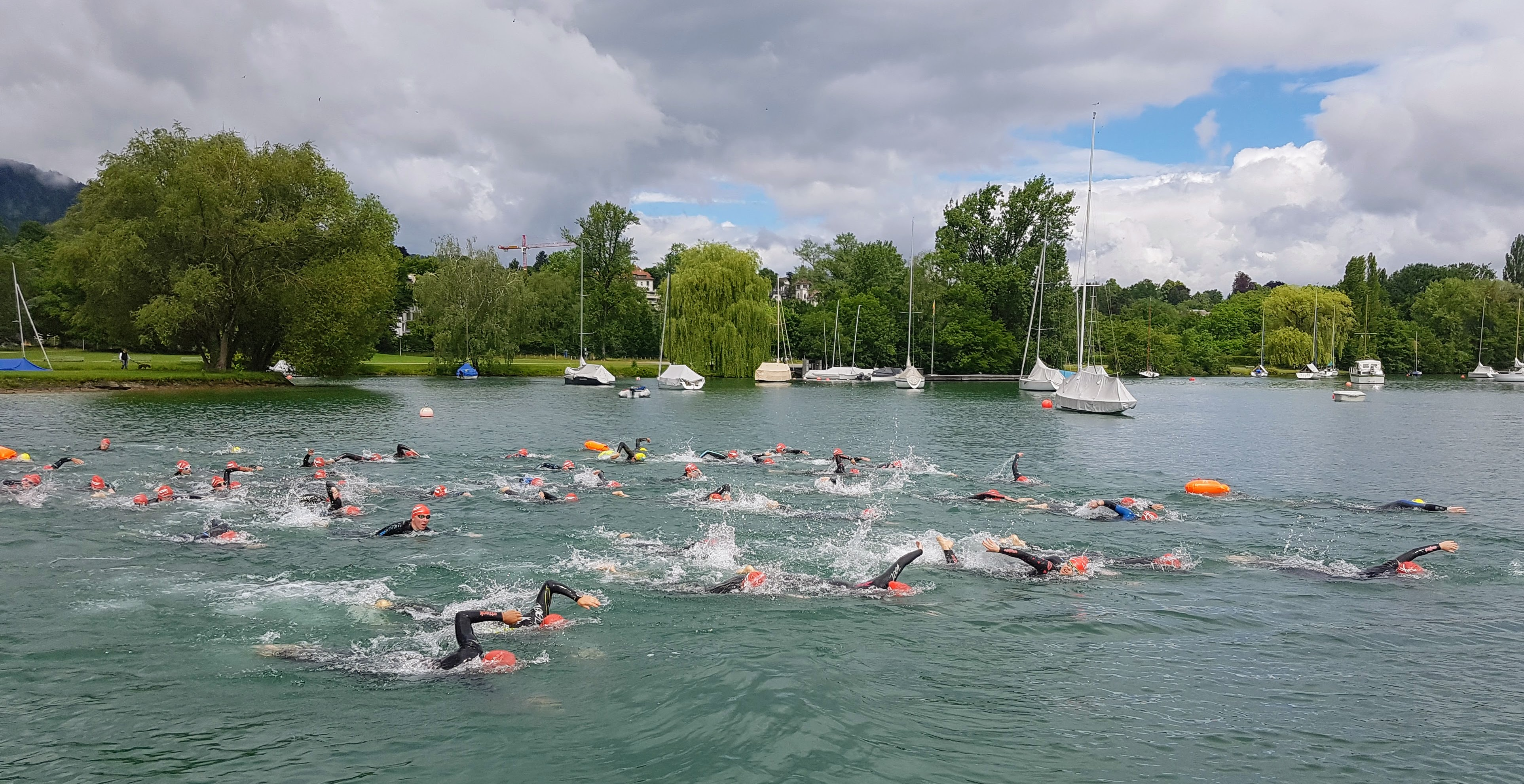 Gesucht: Bootsbegleitung Gigathlon Schwimmen