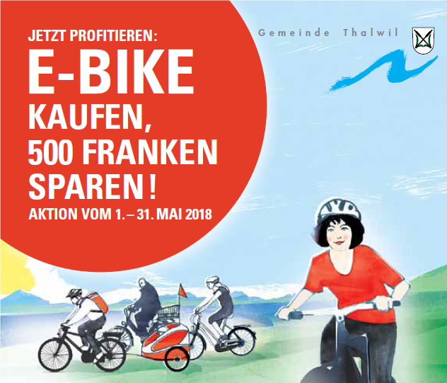 E-Bike-Aktion Thalwil im Mai