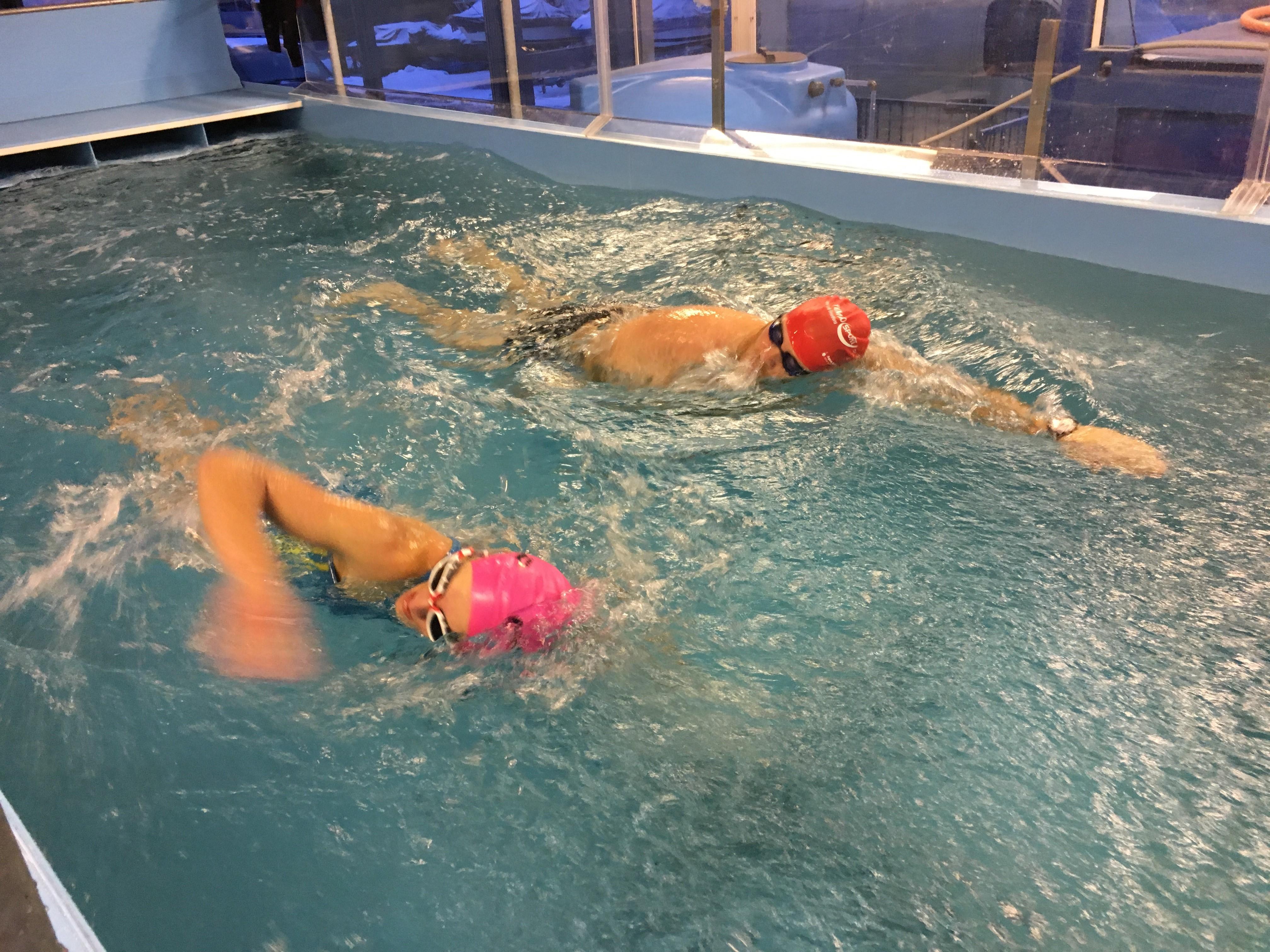 Techniktraining Schwimmkanal Januar 19
